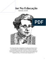 Hanna Arendt a Crise Na Educacao