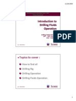 Introduction to Drilling Fluids Operation