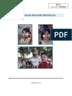 Myanmar Donor Profiles