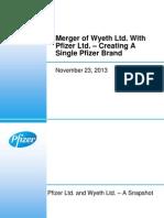 Merger of Pfizer Ltd. and Wyeth Ltd._23 Nov 13_Analyst Presentation