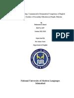 Communicative/Grammatical Competence of English