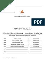 ATPS Planejamento e Controle da Produção