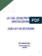 APOSTILA LEI 11.638 - ESTUDO PRÁTICO DOS ASPECTOS CONTÁBEIS