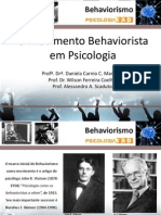 Psicologia Behaviorismo 2014
