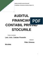 Proiect Audit Stocuri