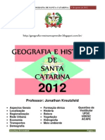 Apostila de Geografia de Santa Catarina 2012 Jonathan