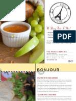 Paris Creperie - Spring 2014 Catering Brochure