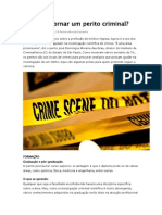 Como Se Tornar Um Perito Criminal