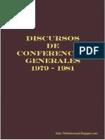 Discursos de Conferencias Generales 1979 1981