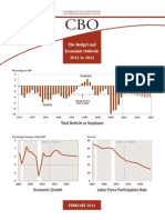 Congressional Budget Office Report on the Economic Outlook; 2014 - 2024
