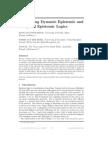 Connecting Dynamic Epistemic and Temporal Epistemic Logic