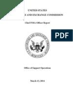 SEC 2014 Chief FOIA Officer Report