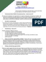 Community Action Suffolk Volunteer Registration Form
