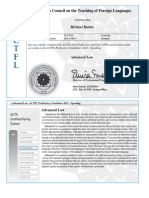 actfl advanced low certificate