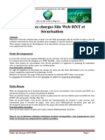 cahier des charges ppe5