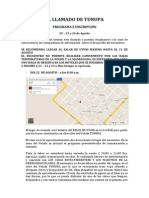PROGRAMA E INSCRIPCIÓN EL LLAMADO DE TUNUPA