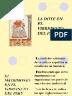 La dote en el Virreinato del Perú