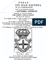 Obras Del Beato Juan Bautista de La Concepcion
