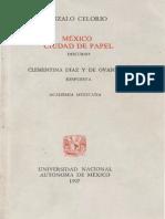 Celorio, Gonzalo - Mexico Ciudad de Papel