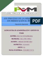 Procesos de Neg. en Mex. y El Mundo