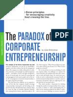 Paradoja Del Emprendimiento Corporativo