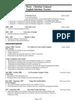 english teacher resume website