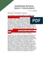 LA CONVERSIÓN ESTUDIO TEOLÓGICO Y PSICOLÓGICO
