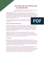 Análisis del Libro de los Hechos de los Apóstoles