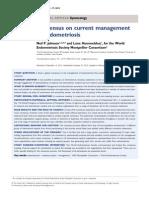 Consensus on current management of endometriosis