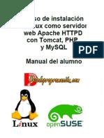 Curso de instalación de Linux como Servidor web Apache HTTPD con Tomcat, PHP, y MySQL