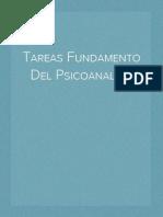 Tareas Fundamento Del Psicoanalisis
