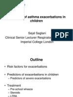 Treatment of Asthma Exacerbation Sin Children