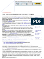 Free SWOT Analysis Template and Method, Free Swot Analysis Examples