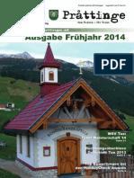 Tuxer Prattinge - Ausgabe Frühjahr 2014