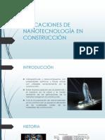 APLICACIONES DE NANOTECNOLOGÍA EN CONSTRUCCIÓN