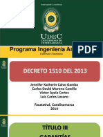 Decreto 1510 Del 2013