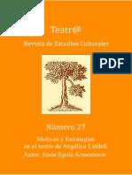 MOTIVOS Y ESTRATEGIAS EN EL TEATRO DE ANGÉLICA LIDDELL