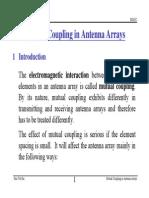 Mutual Coupling in Antenna Arrays