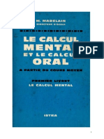 Mathematiques Classiques Calcul Mental Livret 1 Madelain 1963