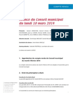Mignovillard - Compte rendu du Conseil municipal du lundi 10 mars 2014