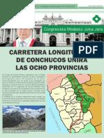"""""""ASFALTADO DE LA CARRETERA LONGITUDINAL DE CONCHUCOS"""""""
