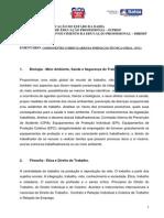 Ementas Dos Componentes Curriculares Da Ftg