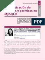 DDBB - Administración de usuarios y privilegios en MySQL