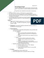 AP Biology Formal Lab Report Format