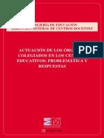 Actuacion Organos Colegiados Centro Educativos