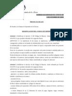 PROYECTO DE LEY  Modificación del Código de Minería