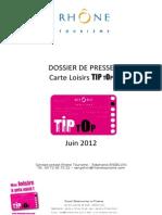 Dossier de Presse Carte Tip Top