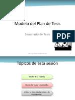 Modelo Del Plan de Tesis