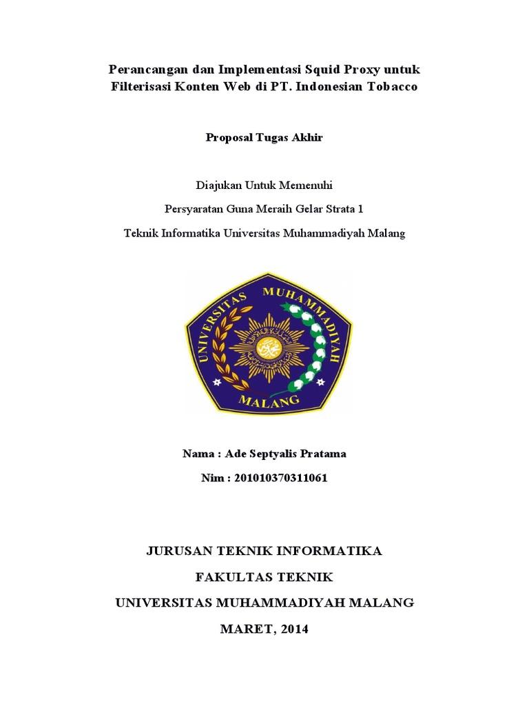 Proposal Tugas Akhir | PDF