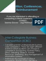 Competition, Conference, & Reimbursement